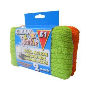 dual action microfibre sponge pad