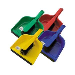 dust pan and stiff brush